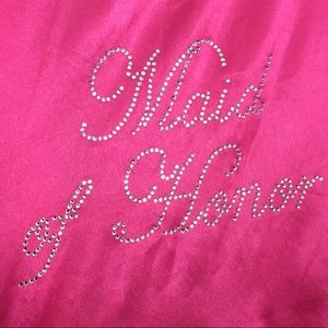 Maid of Honor Robe in Hot Pink
